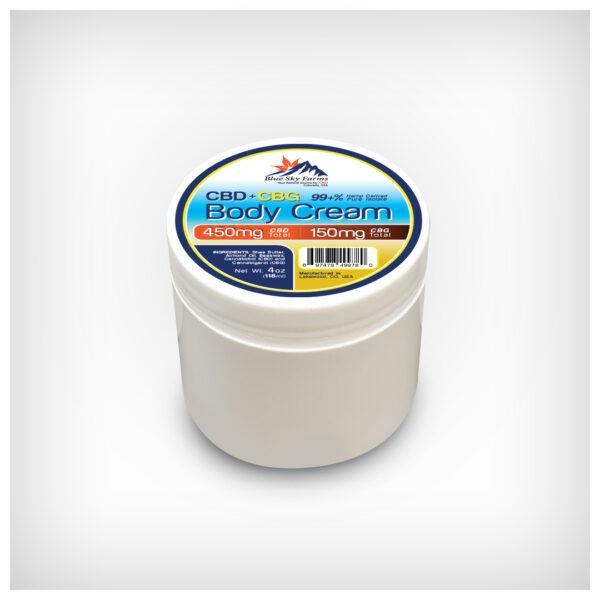 CBD + CBG Body Cream with 450mg CBD + 150mg CBG
